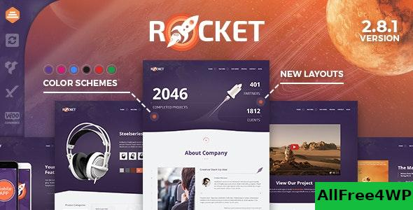 Nulled Rocket v2.9.0 – Creative Multipurpose WordPress Theme NULLED