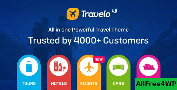 Nulled Travelo v4.2.1 – Travel/Tour Booking WordPress Theme NULLED