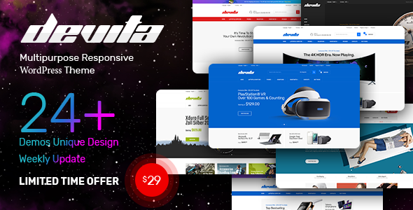 Nulled Devita v1.6.8 – Multipurpose Theme for WooCommerce NULLED