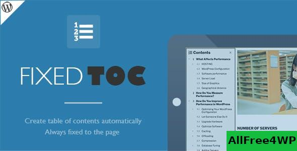 Fixed TOC v3.1.19 - table of contents for WordPress plugin