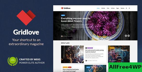 Nulled Gridlove v1.9.7 – Creative Grid Style News & Magazine NULLED