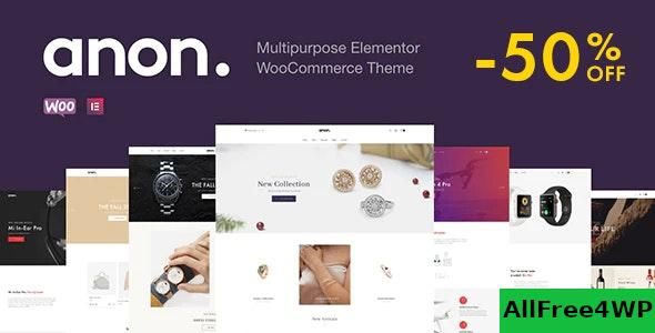 Nulled Anon v1.6.1 – Multipurpose Elementor WooCommerce Theme NULLED