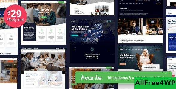 Nulled Avante v1.8 – Business Consulting WordPress NULLED