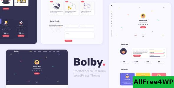 Nulled Bolby v1.0.1 – Portfolio/CV/Resume WordPress Theme NULLED