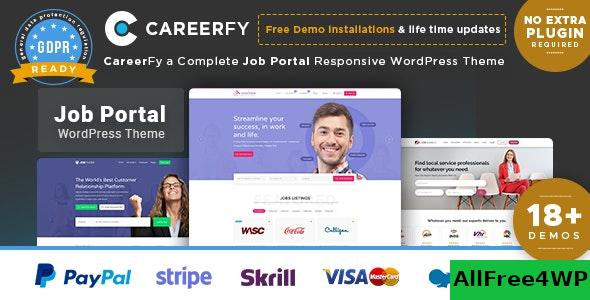 Nulled Careerfy v4.5.0 – Job Board WordPress Theme NULLED