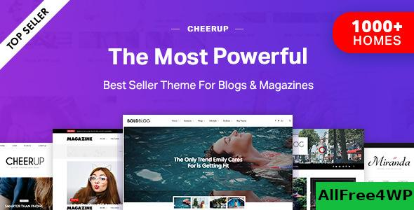 Nulled CheerUp v7.3.0 – Blog / Magazine – WordPress Blog Theme NULLED