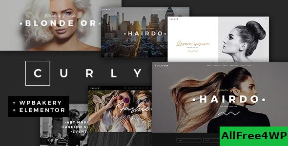 Nulled Curly v2.0 – A Stylish Theme for Hairdressers and Hair Salons NULLED