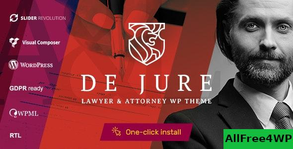 Nulled De Jure v1.1.0 – Attorney and Lawyer WP Theme NULLED