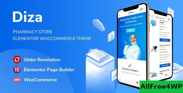 Nulled Diza v1.0.1 – Pharmacy Store Elementor WooCommerce Theme NULLED