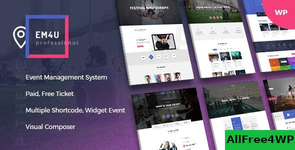 Nulled EM4U v1.3.5 – Events WordPress Theme for Booking Tickets NULLED