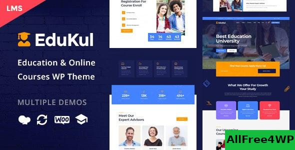 Nulled Edukul v1.7 – Online Courses WordPress Theme NULLED