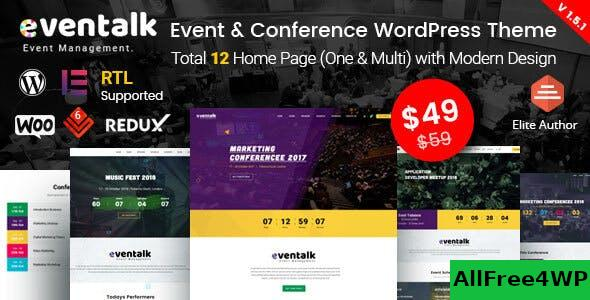 Nulled EvnTalk v1.6.3 – Event Conference WordPress Theme NULLED