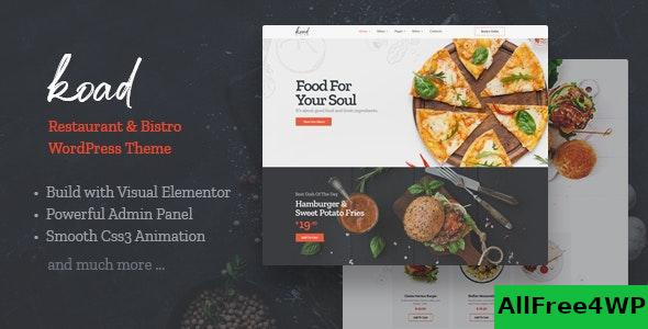 Nulled Koad v1.0 – Restaurant & Bistro WordPress Theme NULLED