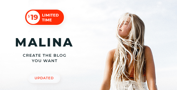 Nulled Malina v2.1.1 – Personal WordPress Blog Theme NULLED