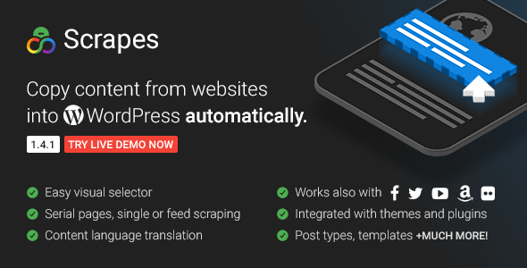 Scrapes v2.1 - Web scraper plugin for WordPress