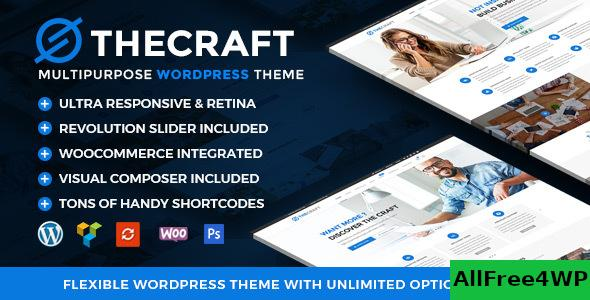 Nulled TheCraft v1.8 – Responsive Multipurpose WordPress Theme NULLED