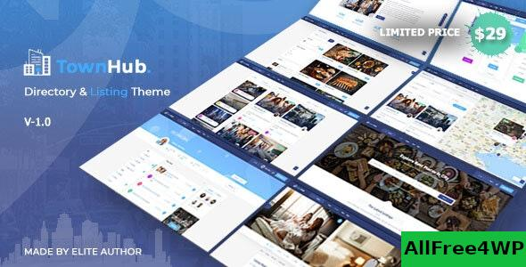 Nulled TownHub v1.3.5 – Directory & Listing WordPress Theme NULLED