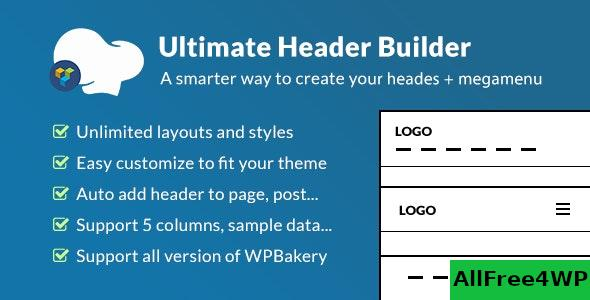 Ultimate Header Builder v1.6.4.1 - Addon WPBakery Page Builder
