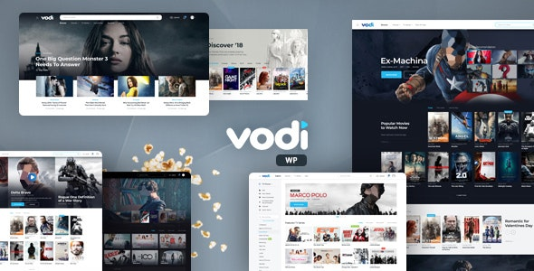 Nulled Vodi v1.2.1 – Video WordPress Theme for Movies & TV Shows NULLED