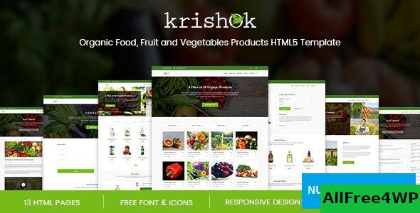 Krishok v1.0 – Organic Food, Fruit and Vegetables Products HTML5 Template