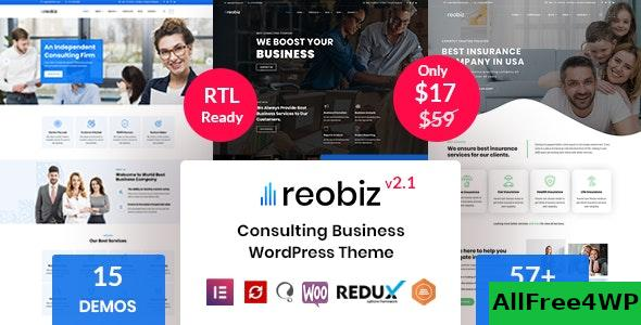 Nulled Reobiz v2.1 – Consulting Business WordPress Theme NULLED