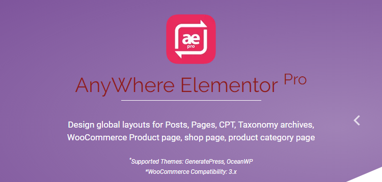 AnyWhere Elementor Pro v2.16 - Global Post Layouts