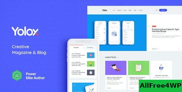 Nulled Yolox v1.0.4 – Modern WordPress Blog Theme for Business & Startup NULLED