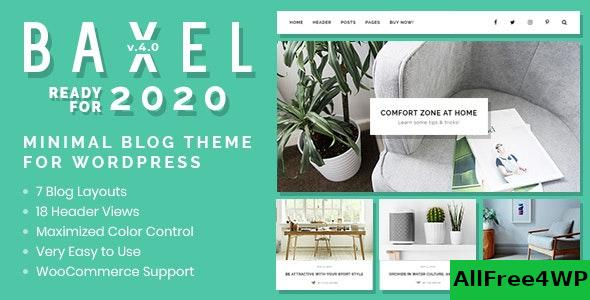Nulled Baxel v4.1 – Minimal Blog Theme for WordPress NULLED