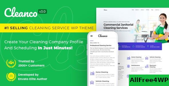 Nulled Cleanco v3.2.0 – Cleaning Company WordPress Theme NULLED