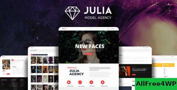 Nulled Julia v2.0.7 – Talent Management WordPress Theme NULLED