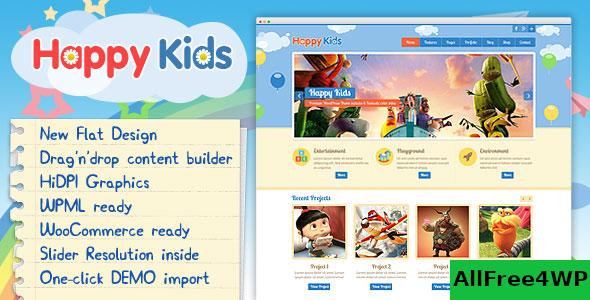 Nulled Happy Kids v3.5.2 – Children WordPress Theme NULLED