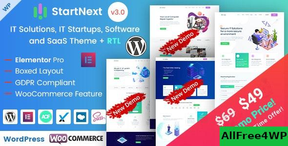 Nulled StartNext v4.2 – IT Startups WordPress Theme NULLED