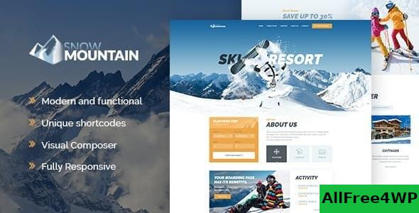 Nulled Snow Mountain v1.2.3 – Ski Resort & Snowboard School WordPress Theme NULLED