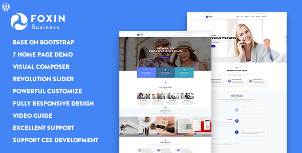Nulled Foxin v1.1.1 – Responsive Business WordPress Theme NULLED