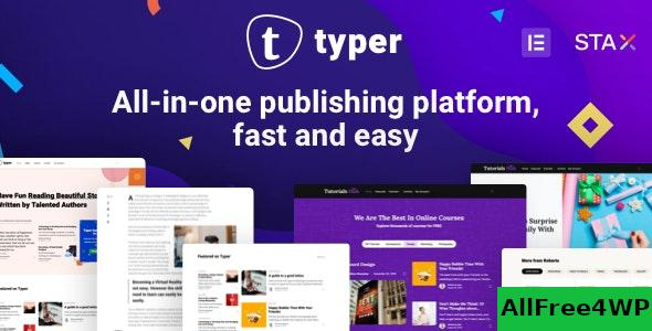 Nulled Typer v1.9.3 – Amazing Blog and Multi Author Publishing Theme NULLED