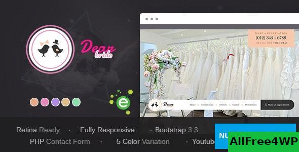 Dear Bride v1.1 – One Page Wedding Salon HTML Template