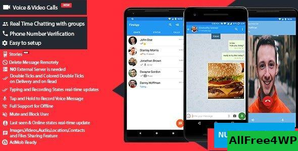 FireApp Chat v1.3.1 – Android Chatting App with Groups Inspired by WhatsApp