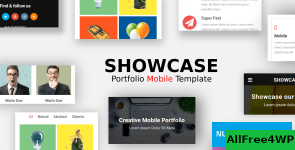 Showcase v1.0 – Portfolio Mobile Template