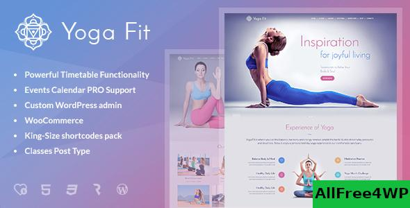 Nulled Yoga Fit v1.2.8 – Sports, Fitness & Gym WordPress Theme NULLED