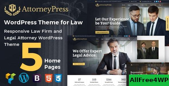 Nulled Attorney Press v2.1.2 – Lawyer WordPress Theme NULLED