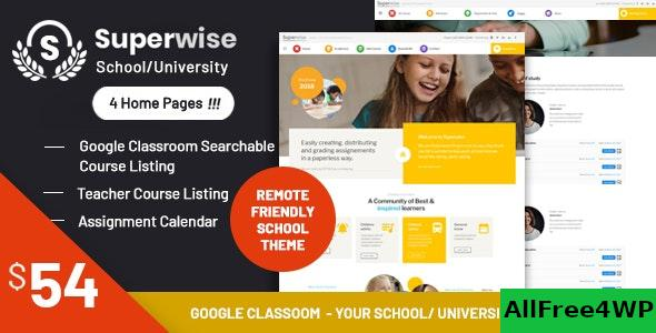 Nulled Superwise v2.9.1 – Modern Education and Google Classroom WordPress Theme NULLED