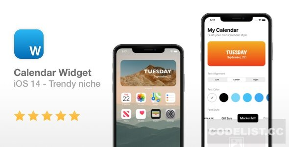 Calendar Widget – NEW iOS 14 Widget