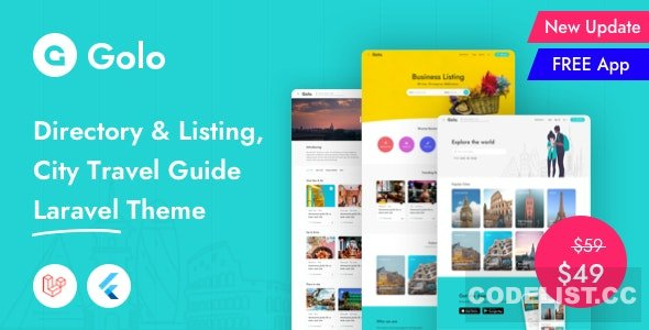 Golo v1.1.6.1 – Directory & Listing, City Travel Guide Laravel Theme