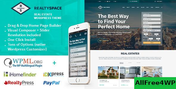 Nulled Realtyspace v1.4.20 – Real estate WordPress Theme NULLED