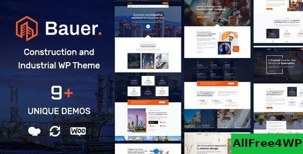 Nulled Bauer v1.8 – Construction and Industrial WordPress Theme NULLED