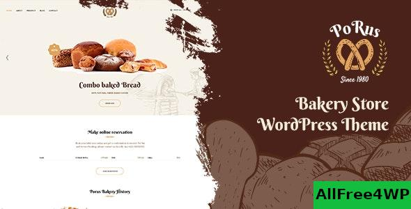 Nulled Porus v1.0.3 – Bakery Store WordPress Theme NULLED