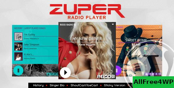 Zuper v2.2.1 - Shoutcast and Icecast Radio Player With History
