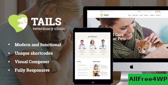 Nulled Tails v1.4.2 – Veterinary Clinic, Pet Care & Animal WordPress Theme + Shop NULLED