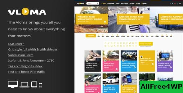 Nulled Vloma Grid v2.6 – A Responsive WordPress Video Blog Theme NULLED