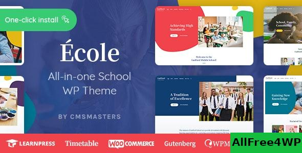 Nulled Ecole v1.0.1 – Education & School WordPress Theme NULLED